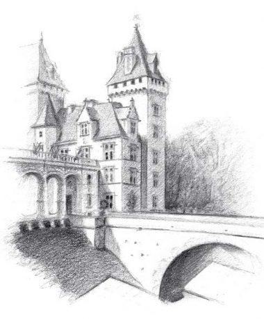 Comment Dessiner Un Chateau Fort Facile